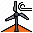 power, wind, windmill icon