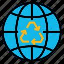 ecology, globe, reuse icon
