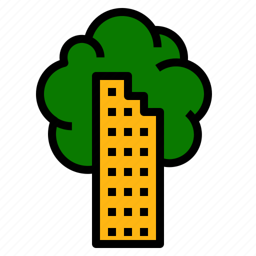 building, ecology, green icon