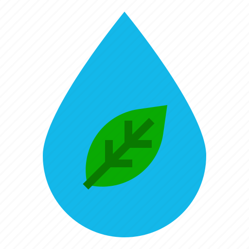 eco, ecology, leaf, service, water icon