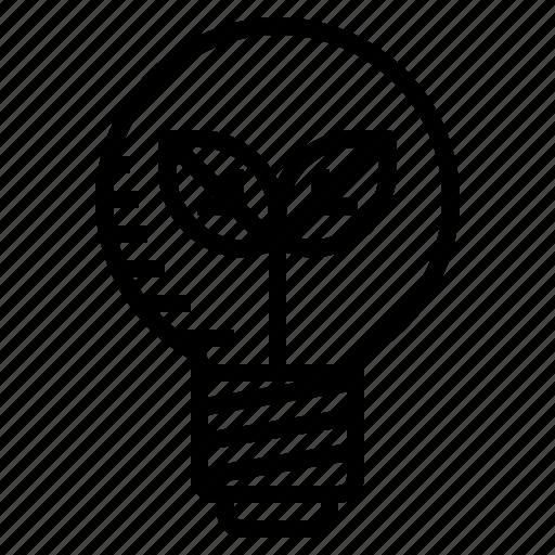 eco, idea, lamp icon