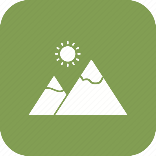 gallery, mountain, nature icon