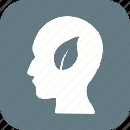 eco mind, head icon