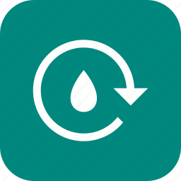 eco, recycle water, save water icon