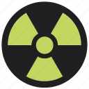 danger, dangerous, hazard, radiation, recycling, warning icon