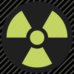danger, dangerous, hazard, radiation, recycling, warning icon