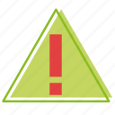 alert, dangerous, hazard, recycling, warning icon