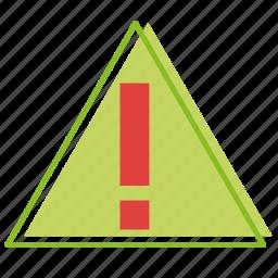 alert, dangerous, hazard, recycling, warning icon