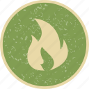 bonfire, fire, flame, heat icon