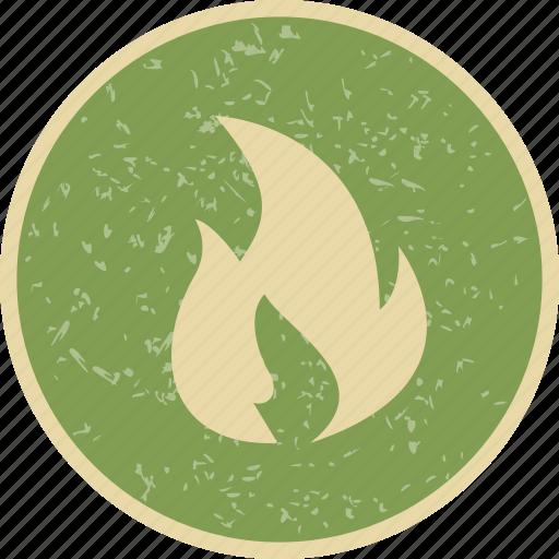 bonfire, fire, flame, heat icon
