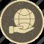 earth on hand, eco, globe icon
