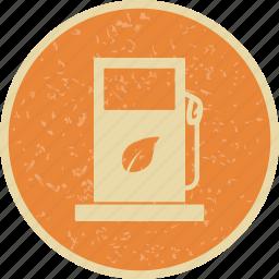eco fuel, gas station icon
