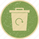 eco, garbage recycle, recycle, recycle bin icon