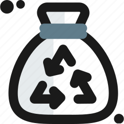 bag, biodegradable, organic, recycle, trash, waste icon