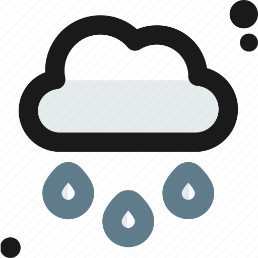 cloud, cloudy, drops, rain, rainy, water, weather icon