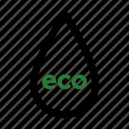 drop, eco icon