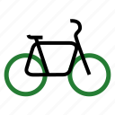 bicycle, bike, cycle, eco, ecology, nature icon