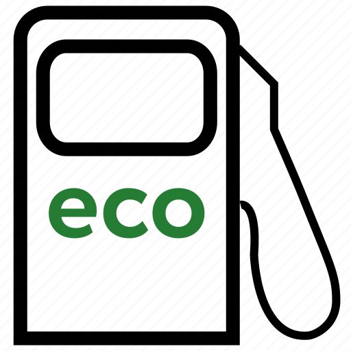 eco, gas, green, station icon