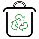 trash, bin, can, garbage, recycle