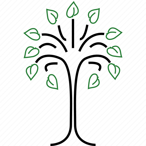 ecology, nature, tree icon