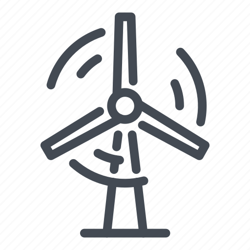 electric, electricity, energy, station, turbine, wind, windmill icon
