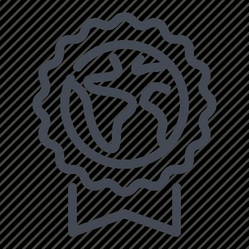 badge, earth, eco, ecology, label icon