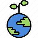 eco, ecology, green, nature, planet, plant, sprout icon