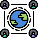 eco, ecology, green, help, nature, people, planet icon
