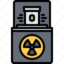 box, eco, ecology, green, nature, radiation, radioactive icon