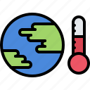 eco, ecology, green, nature, planet, temperature, warming icon