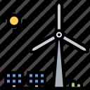 eco, ecology, green, nature, panel, solar, windmill