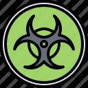 biohazard, eco, ecology, green, nature, sign icon