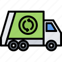 car, eco, ecology, green, nature, trash, truck icon