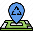 eco, ecology, green, location, map, nature, pin icon