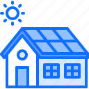 eco, ecology, green, house, nature, panel, solar