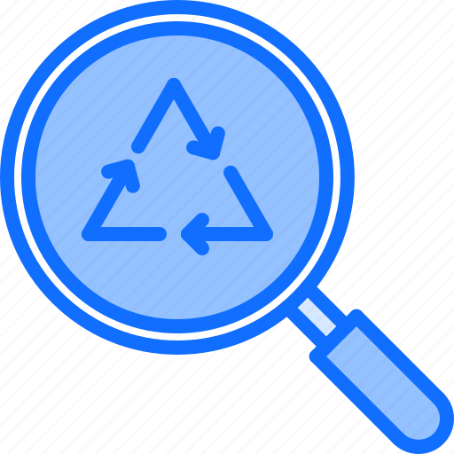 eco, ecology, green, nature, recycling, search icon