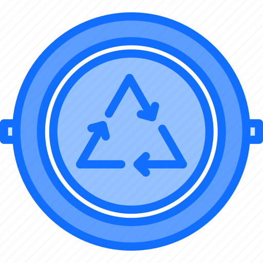 badge, eco, ecology, green, nature, pin, recycling icon