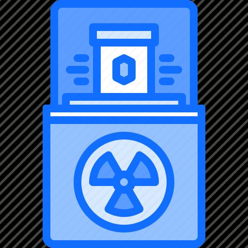 box, eco, ecology, green, nature, radiation, radioactive icon