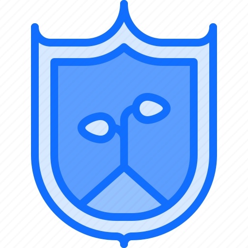 Eco, ecology, green, nature, plant, protection, shield icon - Download on Iconfinder
