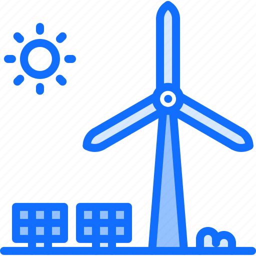 Eco, ecology, green, nature, panel, solar, windmill icon - Download on Iconfinder