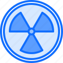 eco, ecology, green, nature, radiation, sign icon