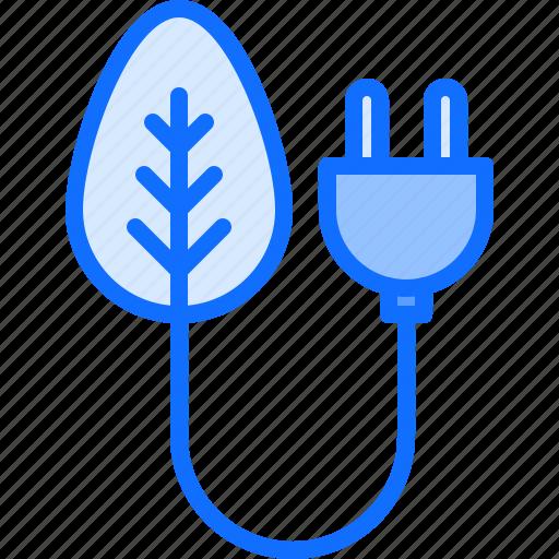 Eco, ecology, energy, green, leaf, nature, plug icon - Download on Iconfinder