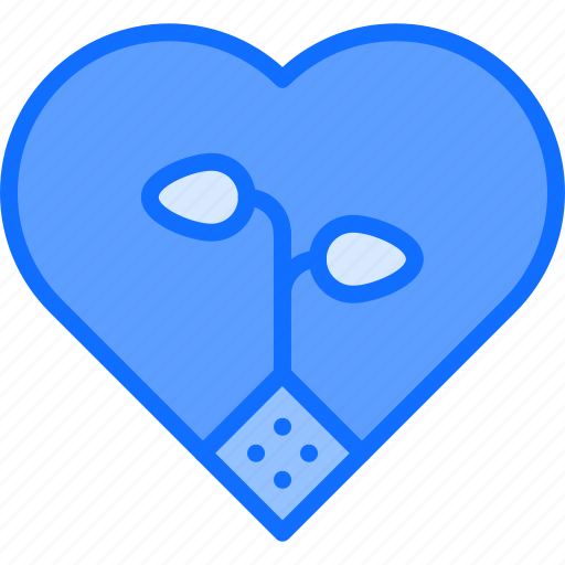 Eco, ecology, green, heart, love, nature, plant icon - Download on Iconfinder