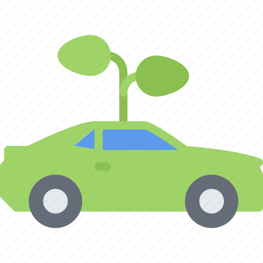 car, eco, ecology, green, nature, plant, sprout icon