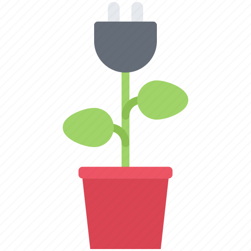 Eco, ecology, green, nature, plant, plug, pot icon - Download on Iconfinder