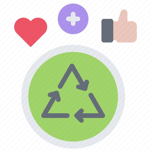 Eco, ecology, green, heart, like, nature, recycling icon - Download on Iconfinder