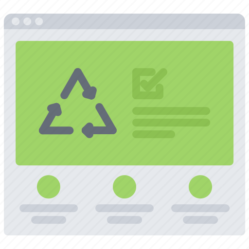 eco, ecology, green, nature, recycling, site, website icon