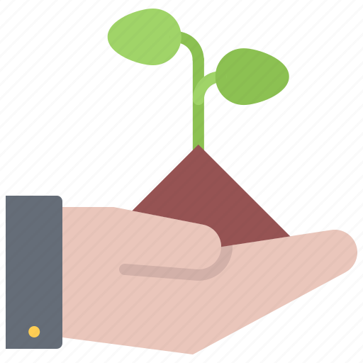 eco, ecology, green, hand, nature, plant, sprout icon