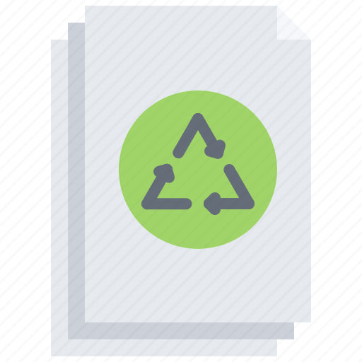 Eco, ecology, green, nature, paper, recycling icon - Download on Iconfinder