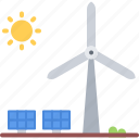 eco, ecology, green, nature, panel, solar, windmill